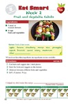 Eat Smart 4th Grade Week 2 Fruit and Vegetable Kabobs (English & Español) by Glenda Canaca