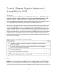 2015/2016 CUL&LS OILS State of Assessment Narrative