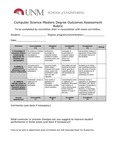 2017/2018 SOE Computer Science MS Assessment Plan and Rubric