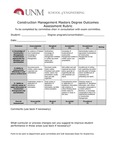 2017/2018 SOE Construction Management MS Assessment Rubric