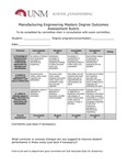 2017/2018 SOE Manufacturing Engineering MS Assessment Rubric