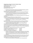 2017/2018 SOE Mechanical Engineering MS Assessment