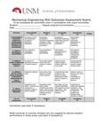 2017/2018 SOE Mechanical Engineering PhD Assessment Rubric