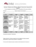 2017/2018 SOE Nuclear Engineering MS Assessment Rubric