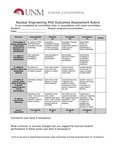 2017/2018 SOE Nuclear Engineering PhD Assessment Rubric