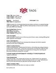 Test Run 2018/2019 UNM-Taos CDL Plan, Report, Rubric
