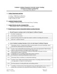 2010-2011 SOM University Sci Teaching G-Cert Assessment Plan