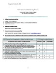 2013-2014 SOM OT Learning Assessment Plan