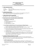 2013-2014 SOM DPT Physical Therapy Assessment Plan