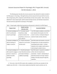 2013 CAS Psychology PhD Outcome Assessment Report