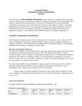 2012-2013 CAS Journalism and Mass Communication Assessment Report
