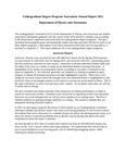 2010-2011 CAS Physics and Astronomy Undergraduate Degree Program Assessment Annual Report