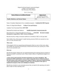 2017/2018 CAS Combined BA/MD Program Assessment Report