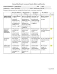 19/20 Valencia State of Assessment Narrative and Rubric
