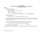 2019/2020 CAS Economics MA Plan/Report