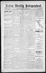 Raton Weekly Independent, 01-12-1889