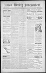 Raton Weekly Independent, 02-09-1889