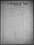 La Revista de Taos, 01-15-1909 by José Montaner