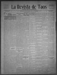 La Revista de Taos, 10-01-1909 by José Montaner