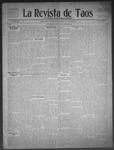La Revista de Taos, 11-26-1909 by José Montaner