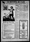 La Revista de Taos, 09-27-1918 by José Montaner