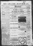Rio Grande Republican, 11-03-1888 by Charles Metcalfe