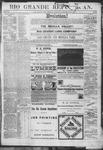 Rio Grande Republican, 11-17-1888 by Charles Metcalfe