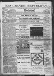Rio Grande Republican, 11-24-1888 by Charles Metcalfe