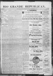Rio Grande Republican, 12-08-1888 by Charles Metcalfe