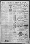 Rio Grande Republican, 12-29-1888 by Charles Metcalfe