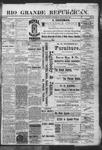 Rio Grande Republican, 01-05-1889 by Charles Metcalfe
