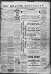 Rio Grande Republican, 01-26-1889 by Charles Metcalfe