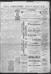 Rio Grande Republican, 02-02-1889 by Charles Metcalfe