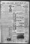 Rio Grande Republican, 03-09-1889 by Charles Metcalfe