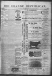 Rio Grande Republican, 03-23-1889 by Charles Metcalfe