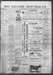 Rio Grande Republican, 03-30-1889 by Charles Metcalfe