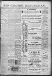 Rio Grande Republican, 04-13-1889 by Charles Metcalfe