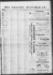Rio Grande Republican, 04-27-1889 by Charles Metcalfe