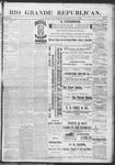 Rio Grande Republican, 05-11-1889 by Charles Metcalfe