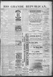 Rio Grande Republican, 06-15-1889 by Charles Metcalfe