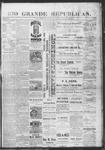 Rio Grande Republican, 06-22-1889 by Charles Metcalfe