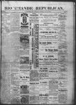 Rio Grande Republican, 07-06-1889 by Charles Metcalfe