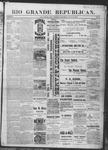 Rio Grande Republican, 07-20-1889 by Charles Metcalfe