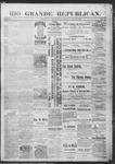 Rio Grande Republican, 07-27-1889 by Charles Metcalfe