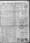 Rio Grande Republican, 08-03-1889 by Charles Metcalfe