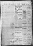 Rio Grande Republican, 08-24-1889 by Charles Metcalfe