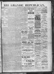 Rio Grande Republican, 08-31-1889 by Charles Metcalfe