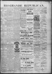Rio Grande Republican, 09-21-1889 by Charles Metcalfe