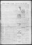 Rio Grande Republican, 10-05-1889 by Charles Metcalfe