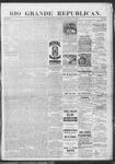 Rio Grande Republican, 10-12-1889 by Charles Metcalfe